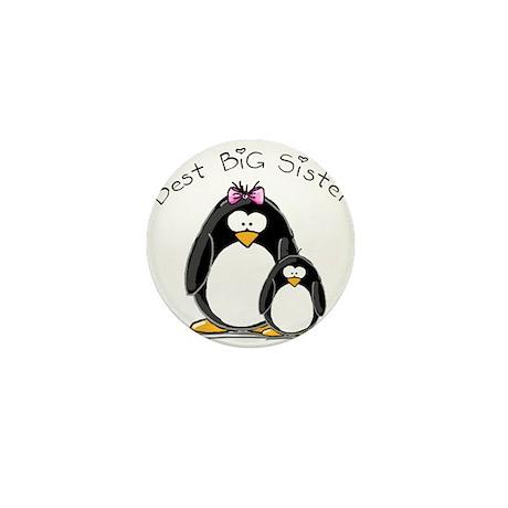 Best Big Sister penguins Mini Button (10 pack)