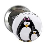 "Best Big Sister penguins 2.25"" Button (100 pa"