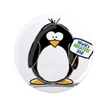 "World's Greatest Dad Penguin 3.5"" Button (100"
