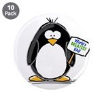 "World's Greatest Dad Penguin 3.5"" Button (10"