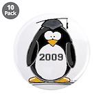 """2009 Graduation Penguin 3.5"""" Button (10 pack)"""