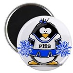 "Blue CheerLeader Penguin 2.25"" Magnet (100 pa"