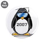 "Cool Graduate 2007 Penguin 3.5"" Button (10 pa"