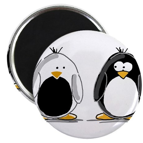 "Backwards Penguin 2.25"" Magnet (10 pack)"