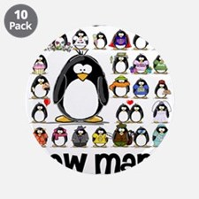 """too many penguins 3.5"""" Button (10 pack)"""