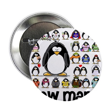 """too many penguins 2.25"""" Button (100 pack)"""