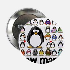 "too many penguins 2.25"" Button (10 pack)"