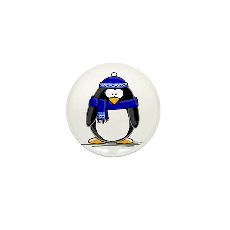 Blue Scarf Penguin Mini Button (100 pack)
