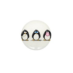 Hear, See, Speak No Evil Peng Mini Button (100 pac