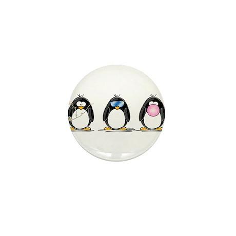Hear, See, Speak No Evil Peng Mini Button (100 pac