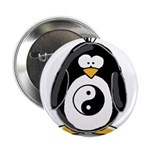 "Martial Arts Ying Yang pengui 2.25"" Button (1"