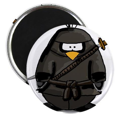 "Martial Arts ninja penguin 2.25"" Magnet (100 pack)"