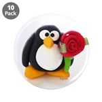 Clay Penguin with Rose 3.5