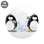 "Communication - Penguin Humor 3.5"" Button (10"
