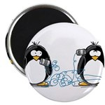 """Communication - Penguin Humor 2.25"""" Magnet (1"""
