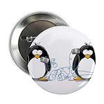 "Communication - Penguin Humor 2.25"" Button (1"