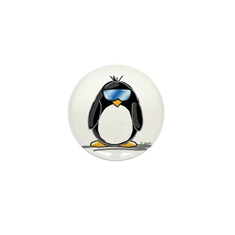 Cool penguin Mini Button (10 pack)