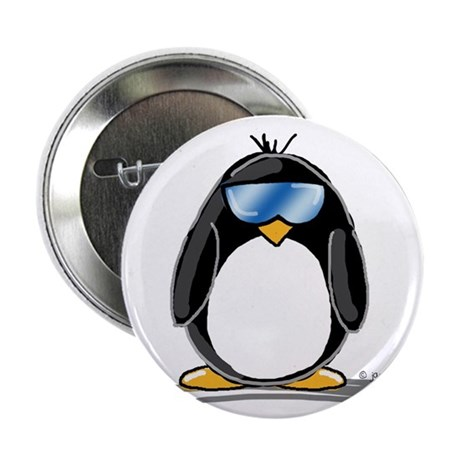 "Cool penguin 2.25"" Button (100 pack)"