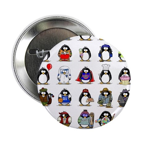 "Lots of Penguins 2.25"" Button (10 pack)"