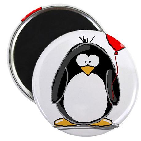 """Red Balloon Penguin 2.25"""" Magnet (100 pack)"""