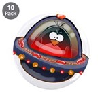 "Evil Space Penguin 3.5"" Button (10 pack)"