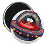 "Evil Space Penguin 2.25"" Magnet (10 pack)"