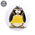 "Flapper penguin 3.5"" Button (10 pack)"