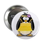 "Flapper penguin 2.25"" Button (10 pack)"