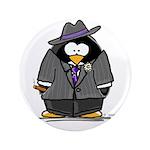 """Mobster penguin 3.5"""" Button (100 pack)"""