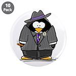 """Mobster penguin 3.5"""" Button (10 pack)"""