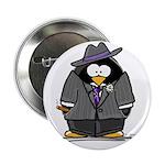 """Mobster penguin 2.25"""" Button (10 pack)"""