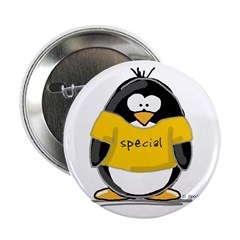 """Special penguin 2.25"""" Button (100 pack)"""
