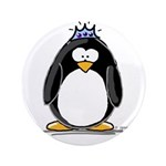 """Princess penguin 3.5"""" Button (100 pack)"""
