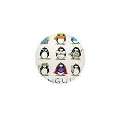 9 Penguins Mini Button (100 pack)