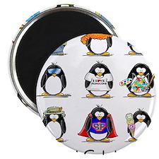 """9 Penguins 2.25"""" Magnet (10 pack)"""