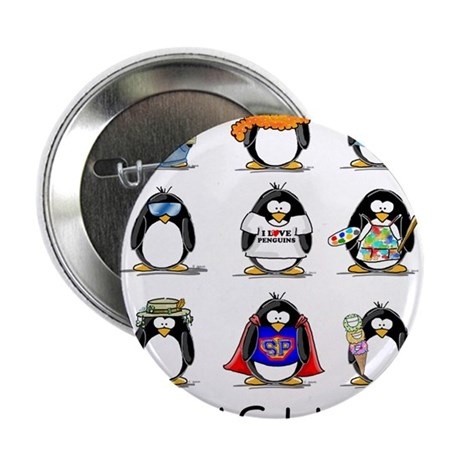 "9 Penguins 2.25"" Button (100 pack)"