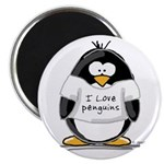 "I Love Penguins penguin 2.25"" Magnet (10 pack"