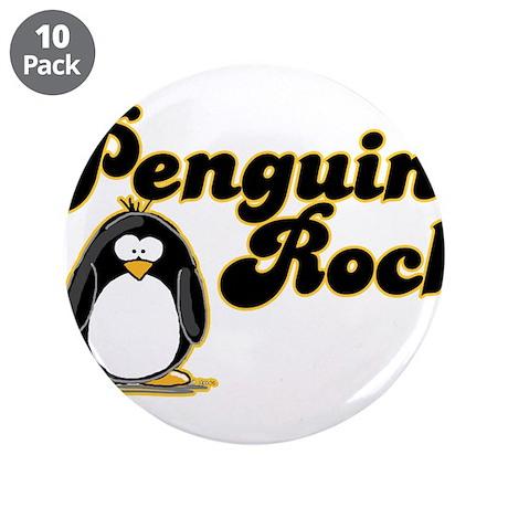 """Penguins Rock 3.5"""" Button (10 pack)"""