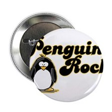 """Penguins Rock 2.25"""" Button (100 pack)"""