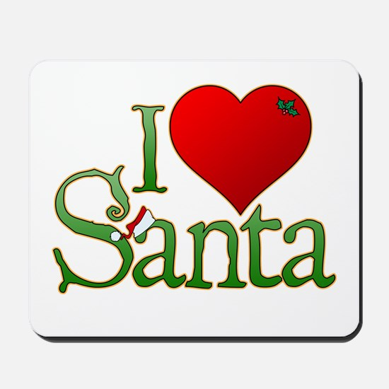 I Heart Santa Mousepad