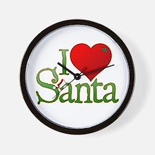 I Heart Santa Wall Clock