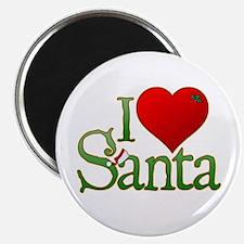 """I Heart Santa 2.25"""" Magnet (10 pack)"""