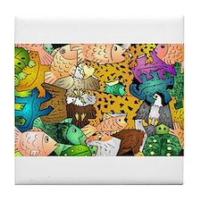 Funny Tessellation Tile Coaster