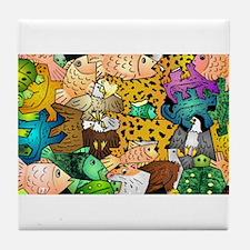 Cute Tessellation Tile Coaster