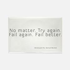 Fail Better Rectangle Magnet