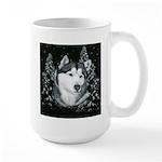 Alaskan Malamute Winter Desig Large Mug