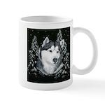 Alaskan Malamute Winter Desig Mug