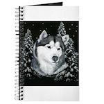 Alaskan Malamute Winter Desig Journal