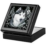 Alaskan Malamute Winter Desig Keepsake Box