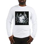 Alaskan Malamute Winter Desig Long Sleeve T-Shirt